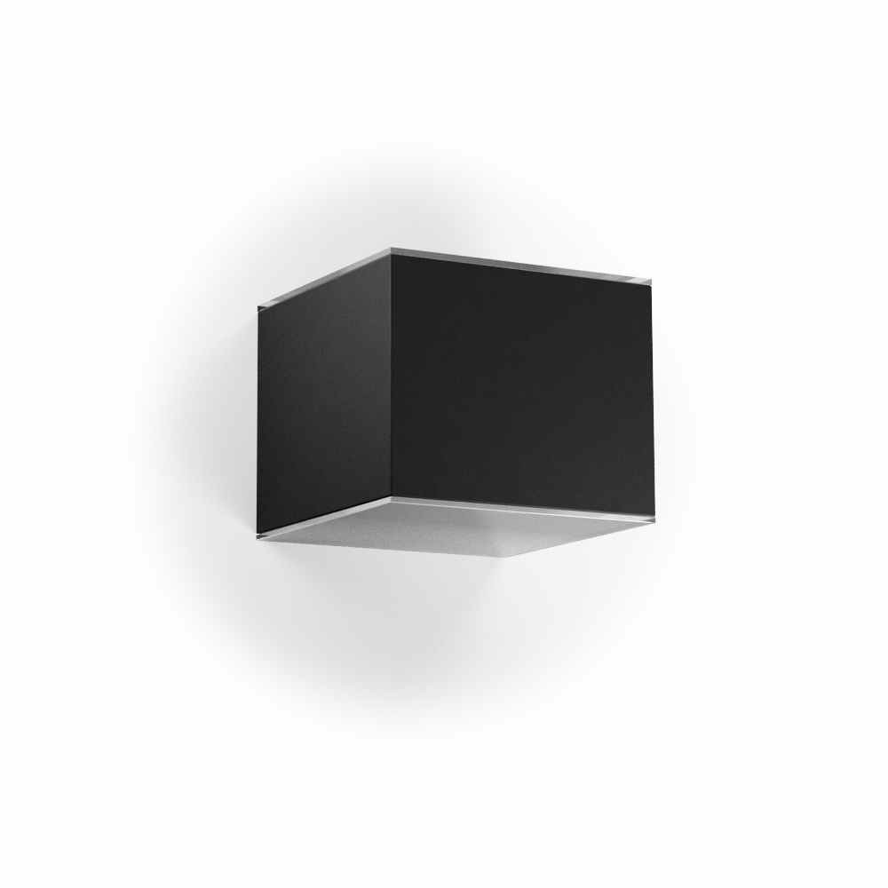 Solar wandlamp up downlight zwart vierkant