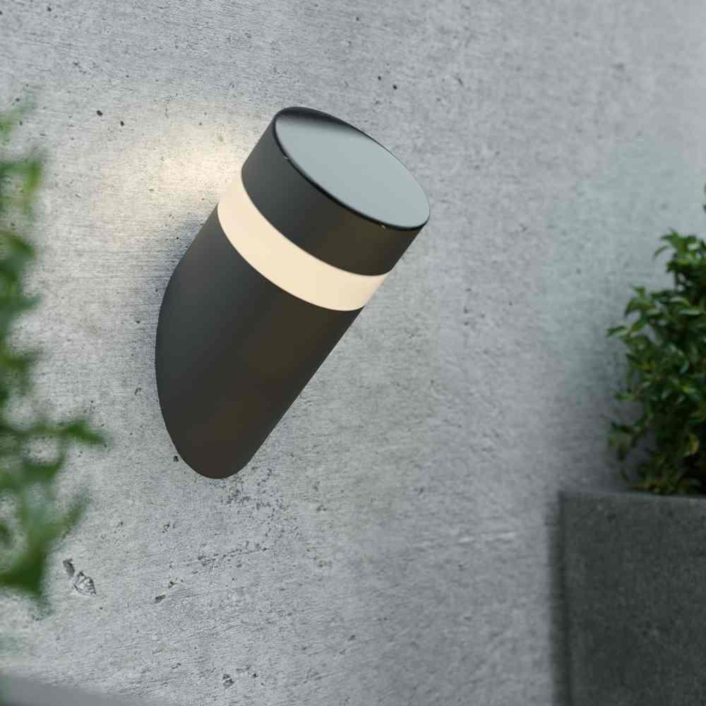 Solar wandlamp RVS Magico – antracietgrijs