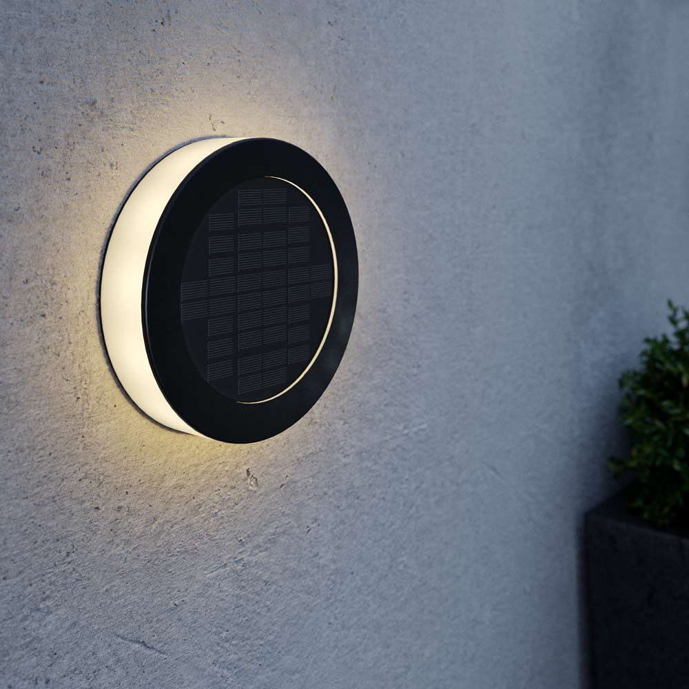 Solar wandlamp disc 360 graden