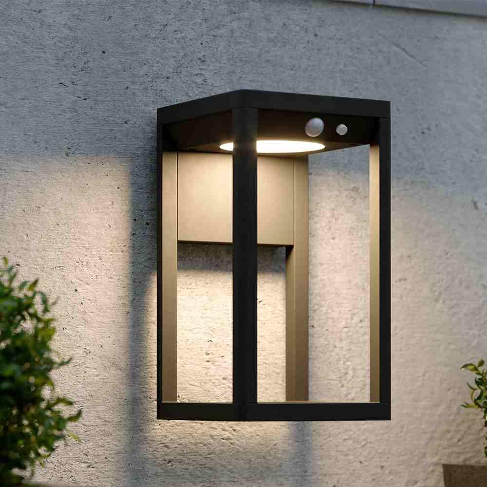 Solar wandlamp industrieel