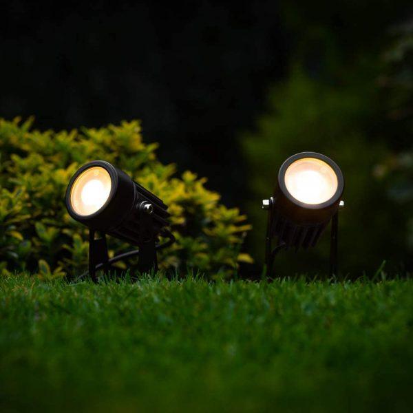 Tuinspots solar LED zwart – Tuinverlichting – set 2 stuks