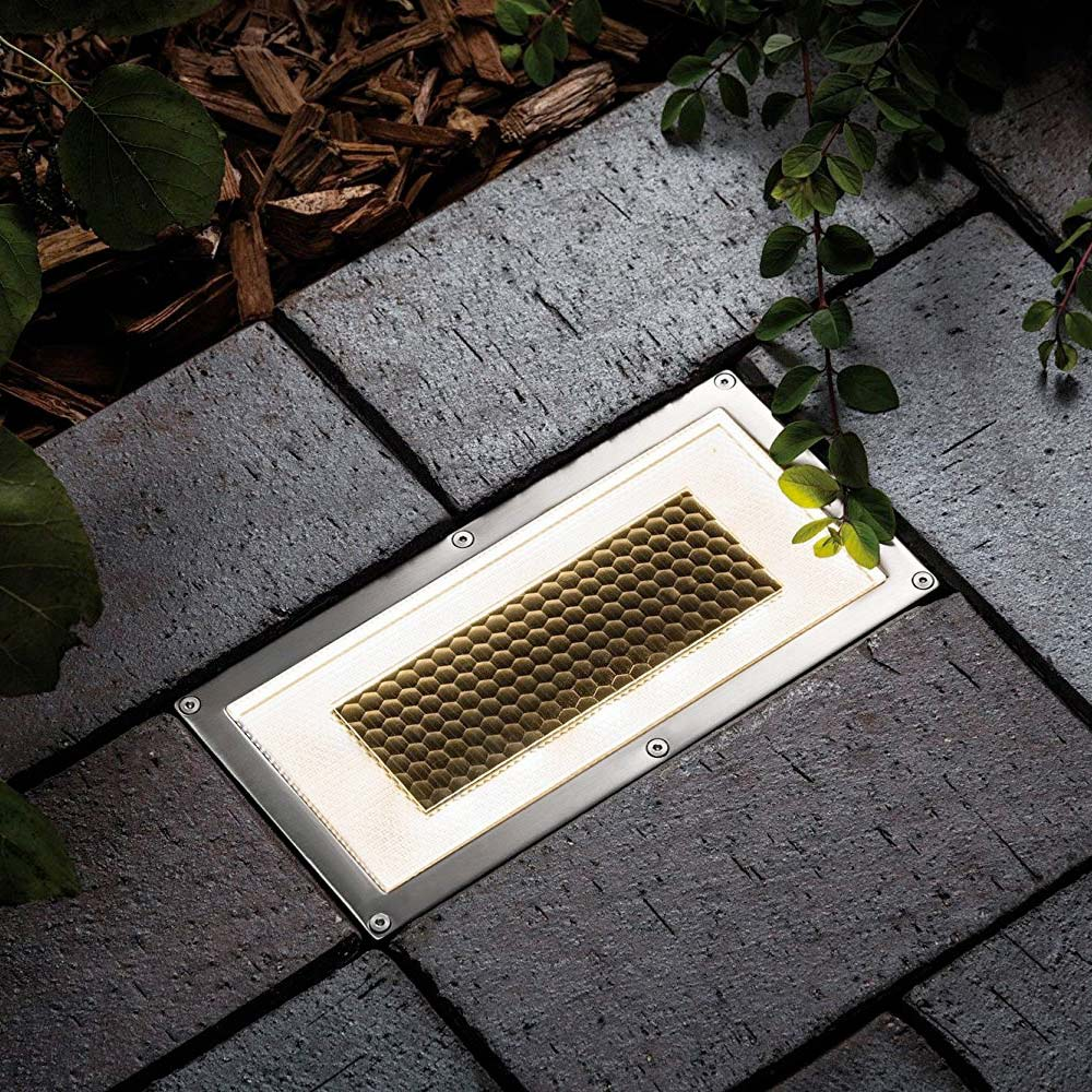 Solar grondspot LED vierkant - Premium design XL - 2 stuks