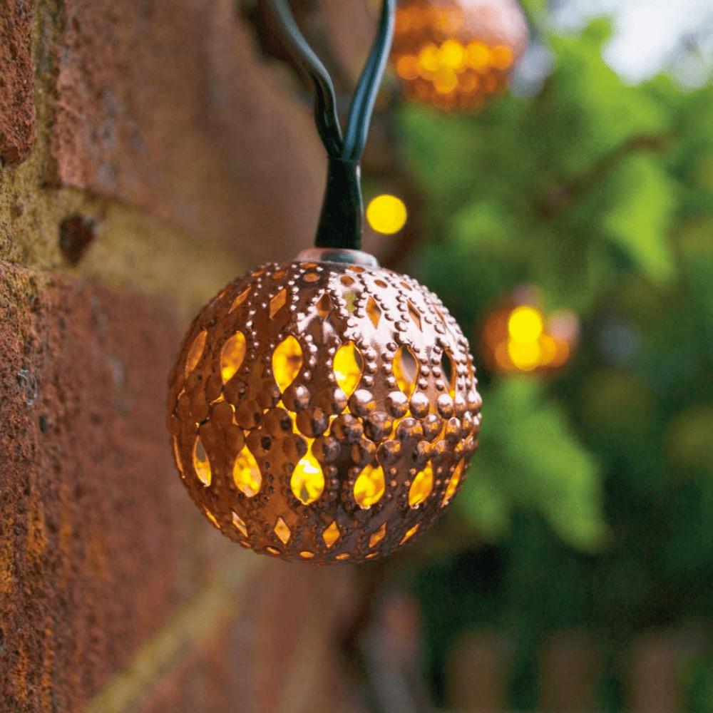 Solar lichtsnoer LED Koperen ballen - 20 lampen