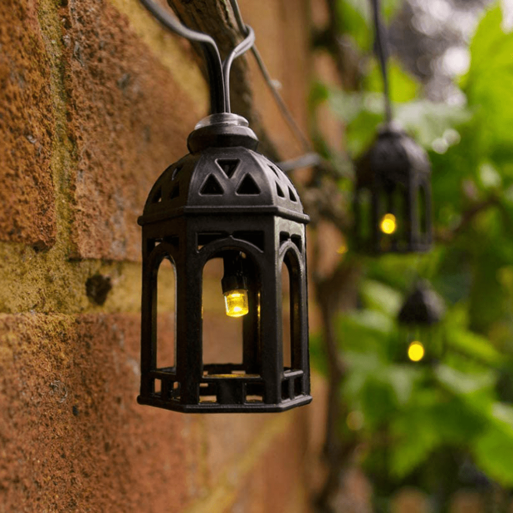Solar lichtsnoer LED Marokkaanse lantaarns - 20 lampen