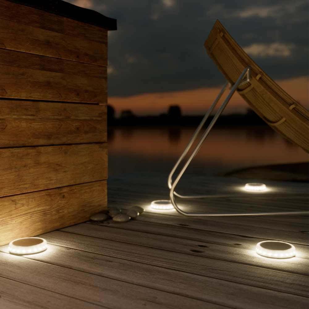 Solar vlonderspot LED rond Decking Terrasverlichting