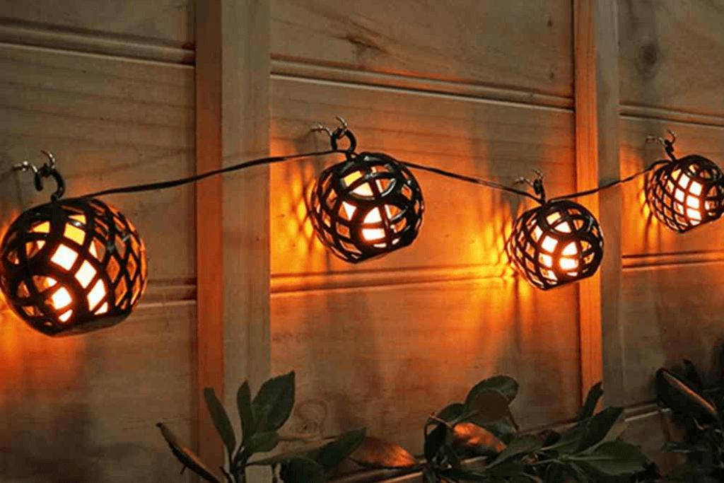 Solar hanglampjes tuin